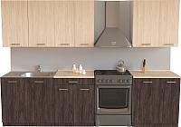 Готовая кухня Хоум Лайн Луиза 2.1 (флитвуд серая лава/флитвуд белый) -