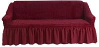 Чехол на диван - 3 местный Софатэкс Евро Люкс ПО-1 (бордовый) -