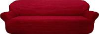 Чехол на диван - 3 местный Софатэкс ПО-6 (бордовый) -