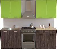 Готовая кухня Хоум Лайн Луиза 1.6 (флитвуд серая лава/зеленый лайм) -