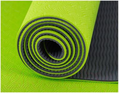 Коврик для йоги и фитнеса Atemi AYM01TPE (серый/зеленый)