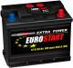 Автомобильный аккумулятор Eurostart Extra Power L+ (60 А/ч) -