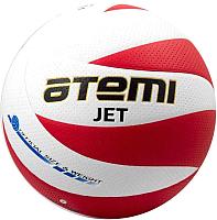 Мяч волейбольный Atemi Jet (белый/красный) -