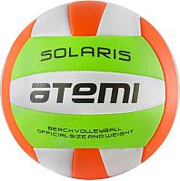 Мяч волейбольный Atemi Solaris PVC (зеленый/белый/оранжевый) -