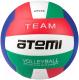 Мяч волейбольный Atemi Team (красный/белый/синий/зеленый) -