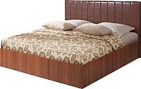 Двуспальная кровать Мебель-Парк Аврора 1 200x180 (темный) -