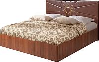 Двуспальная кровать Мебель-Парк Аврора 5 200x180 (темный) -