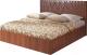 Двуспальная кровать Мебель-Парк Аврора 6 200x180 (темный) -