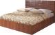 Полуторная кровать Мебель-Парк Аврора 2 200x140 с подъемным механизмом (темный) -