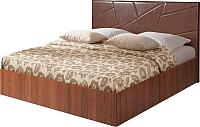 Двуспальная кровать Мебель-Парк Аврора 7 200x160 с подъемным механизмом (темный) -
