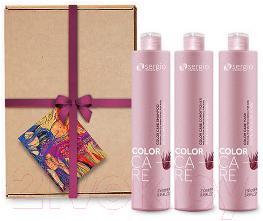 Купить Набор косметики для волос Sergio Professional, Увлажнение и защита цвета шампунь+кондиционер+маска (3x250мл), Италия