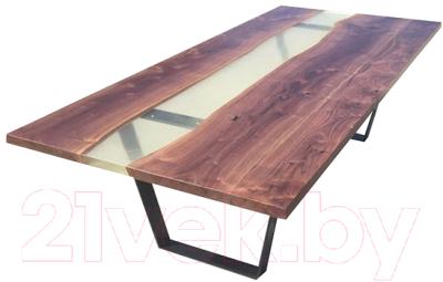 Обеденный стол Timb 1020 (эпоксидная смола/дуб)