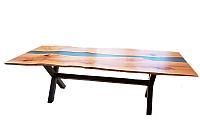 Обеденный стол Timb 1026 (эпоксидная смола/дуб) -