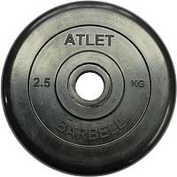 Диск для штанги MB Barbell Atlet d31мм 2.5кг (черный) -