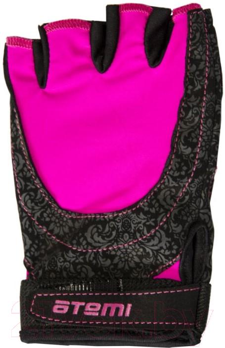 Купить Перчатки для фитнеса Atemi, AFG06P (M, черный/розовый), Китай