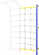 Сетка для лазания Romana ДСКМ-1С-8.18-45 с канатным лазом (синяя слива) -