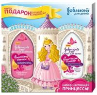 Набор косметики для волос Johnson's Baby Блестящие локоны шампунь 300мл+спрей-кондиционер 200мл -