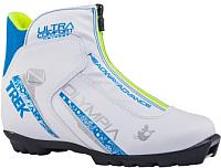 Ботинки для беговых лыж TREK Olympia 2 NNN (белый/синий, р-р 39) -