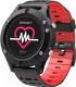 Умные часы NO.1 F5 (черный/красный) -