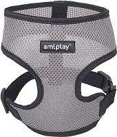 Шлея-жилетка для животных Ami Play Scout Air (M, cерый) -