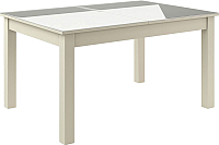 Обеденный стол Васанти Плюс ВС-01 140/180x80 (бежевый глянец) -