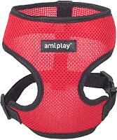 Шлея-жилетка для животных Ami Play Scout Air (M, красный) -