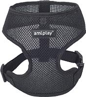 Шлея-жилетка для животных Ami Play Scout Air (S, черный) -