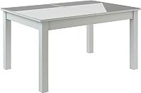 Обеденный стол Васанти Плюс ВС-21 120/160x80 (белый глянец) -
