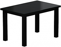 Обеденный стол Васанти Плюс ВС-42 110/150x70М (черный матовый) -