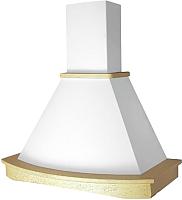 Вытяжка купольная Elikor Ротонда 90П-1000-П3Д (бежевый/дуб неокрашенный) -