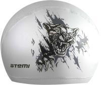 Шапочка для плавания Atemi PU 304 (серебристый) -