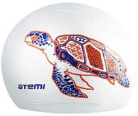 Шапочка для плавания Atemi PU 305 (белый) -
