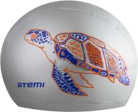 Шапочка для плавания Atemi PU 305 (серебристый) -