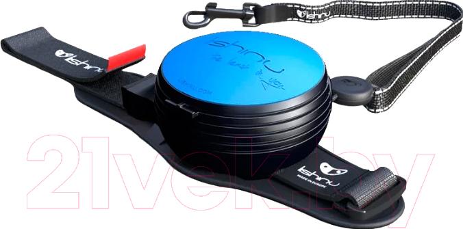 Поводок-рулетка Lishinu, Original 2 (M, голубой), Россия, металл  - купить со скидкой