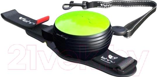 Купить Поводок-рулетка Lishinu, Original 2 (S, неоновый зеленый), Россия, металл