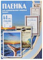 Пленка для ламинирования No Brand 216х303 100мик / PLP10623 (100шт) -