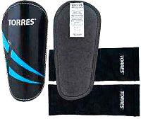 Щитки футбольные Torres Pro FS1608 (L, черный/синий/белый) -