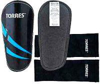 Щитки футбольные Torres Pro FS1608 (S, черный/синий/белый) -