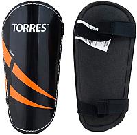 Щитки футбольные Torres Club FS1607 (S, черный/оранжевый/белый) -