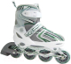 Роликовые коньки Atemi AJIS-12.02 Junior  (р-р 27-30, белый/зеленый) -