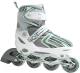 Роликовые коньки Atemi AJIS-12.02 X9 Junior (р-р 30-33, белый/зеленый) -