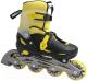 Роликовые коньки Atemi AJIS-12.05 Neon (р-р 30-33, желтый/черный) -