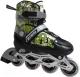Роликовые коньки Atemi AJIS-12.04 Jungle Boy (р-р 30-33, черный/зеленый) -
