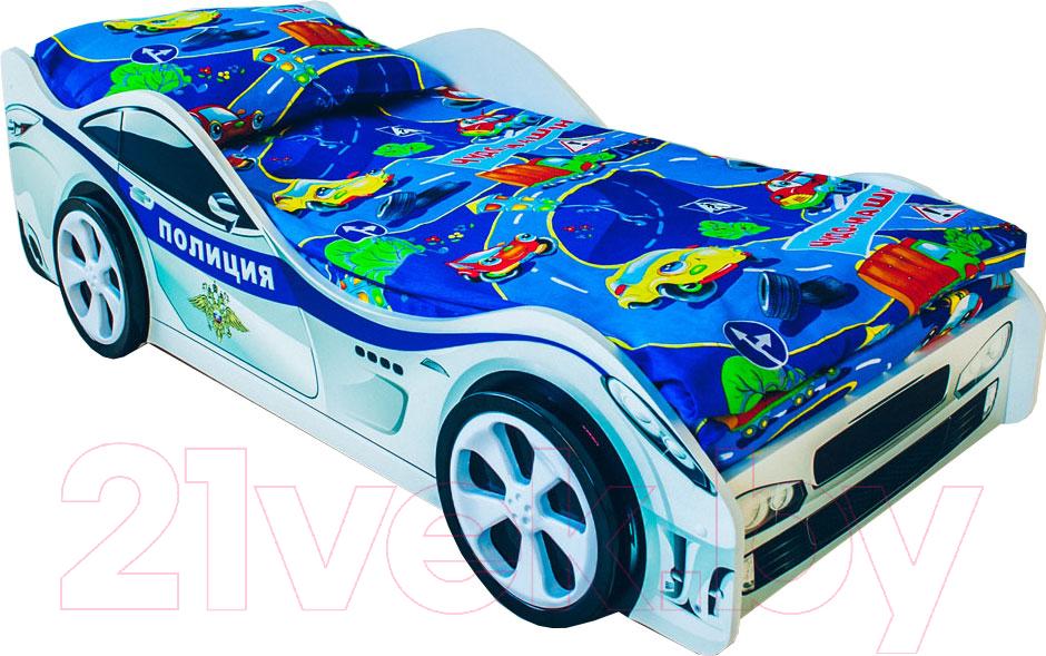 Купить Детская кровать-машинка КарлСон, Классик Полиция, Россия