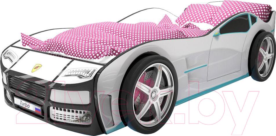Купить Детская кровать-машинка КарлСон, Турбо (белый), Россия