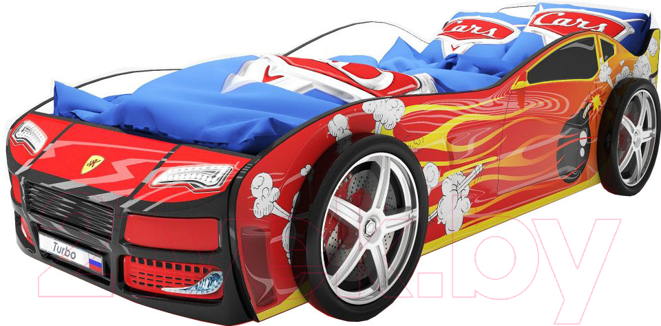 Купить Детская кровать-машинка КарлСон, Турбо 2 (красный), Россия