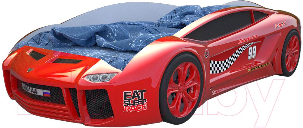 Купить Детская кровать-машинка КарлСон, Ламба Next 2 (красный), Россия