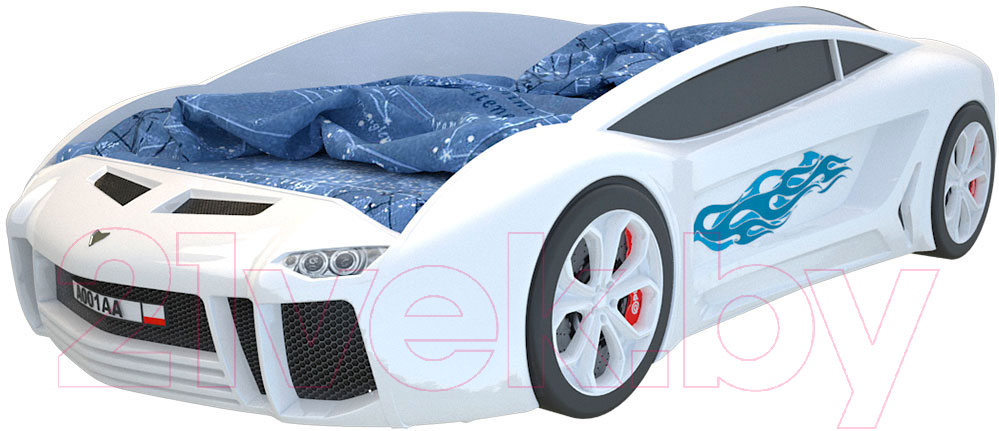 Купить Детская кровать-машинка КарлСон, Ламба Next (белый), Россия