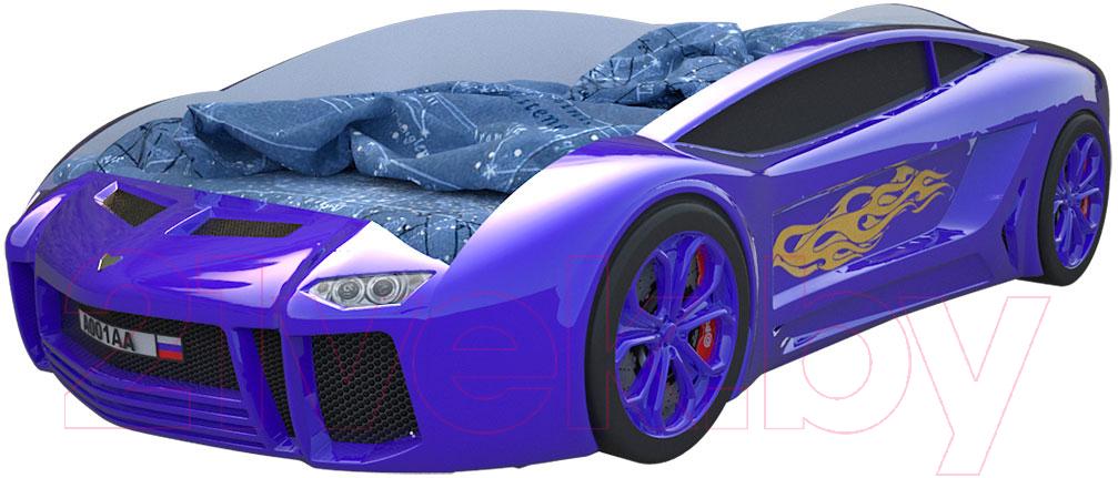 Купить Детская кровать-машинка КарлСон, Ламба Next (синий), Россия