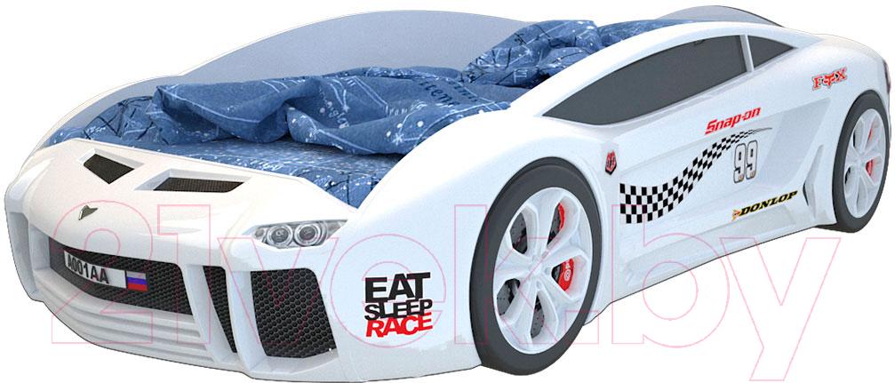 Купить Детская кровать-машинка КарлСон, Ламба Next 2 (белый), Россия